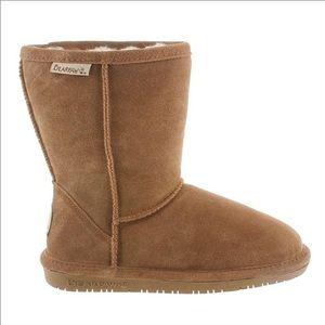 BearPaw Emma Side Zipper  Suede Wool-Lined Boots